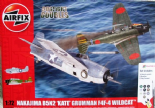 AIR50169 1/72 Nakajima B5N2 Kate & Grumman Wildcat F4F-4 Dogfight Double Gift Set